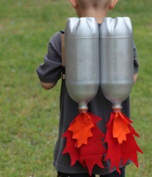 Costume astronaute bouteille eau