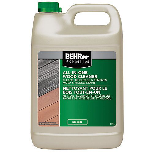 A Cleaner Specifically Formulated To Clean And Brighten Wood