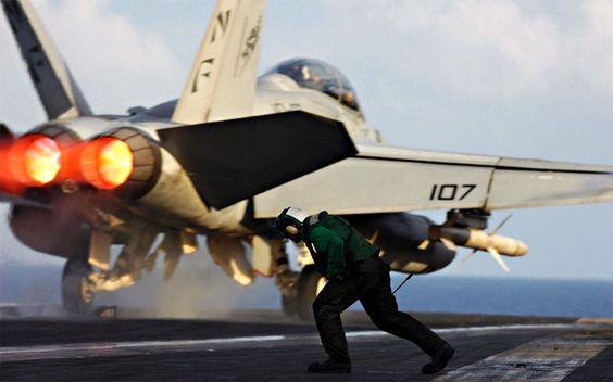 F-18 Cat Launch
