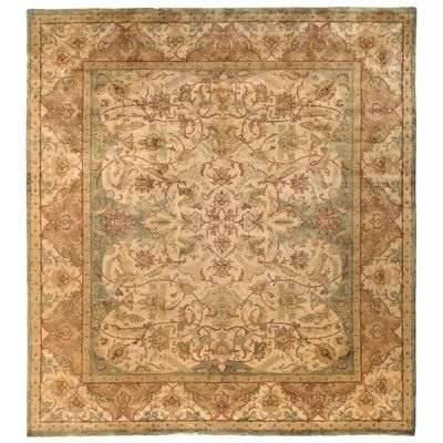 Exquisite Rugs Polonaise Hand Knotted Wool Ivorybeige Area Rug Rug