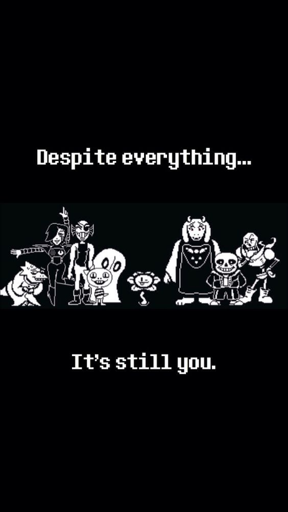 iPhone 5s Undertale Background made by me! No credit