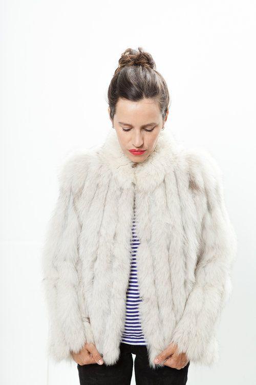 Rails vintage rabbit fur coat