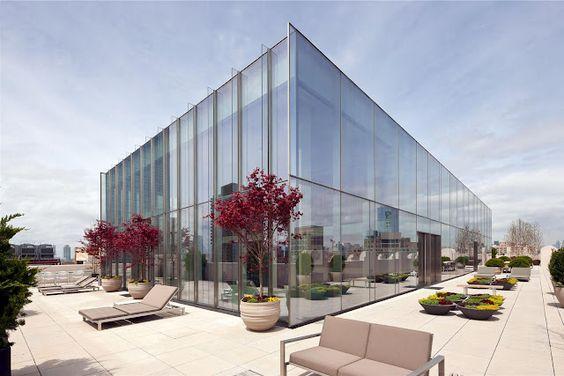 A luxury New York Penthouse: Half Bathroom, Skyloft Penthouse, Dream Home, 145 Hudson, Real Estate, Penthouse Apartment