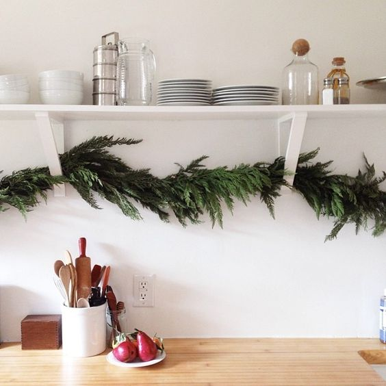 Kitchen Decorated For Christmas: Open Shelving, Shelf Brackets And Under Cabinet On Pinterest
