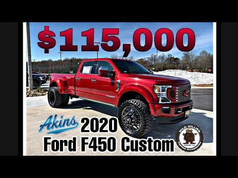 2020 Akins Ford F450 Platinum Reserve Edition Wild Willies Custom Leveled Dually American Force Youtube In 2020 Lifted Trucks Ford Chevy Diesel Trucks