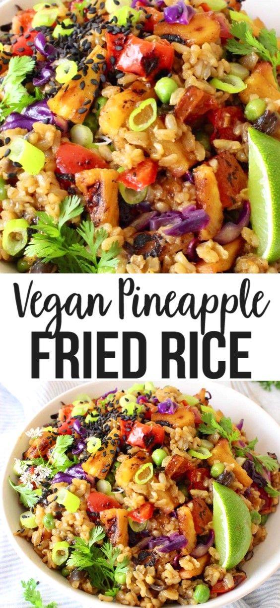 Vegan Pineapple Fried Rice Recipe Veggie Society Recipe In 2020 Vegan Asian Recipes Pineapple Fried Rice Recipe Easy Vegan Dinner