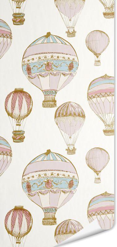 Papier peint BALLOON coloris blanc