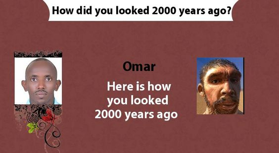How did you looked 2000 years ago?