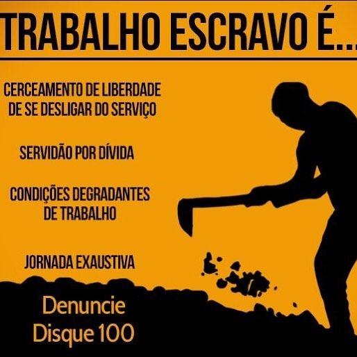 Resultado de imagem para dia de combate ao trabalho escravo banner