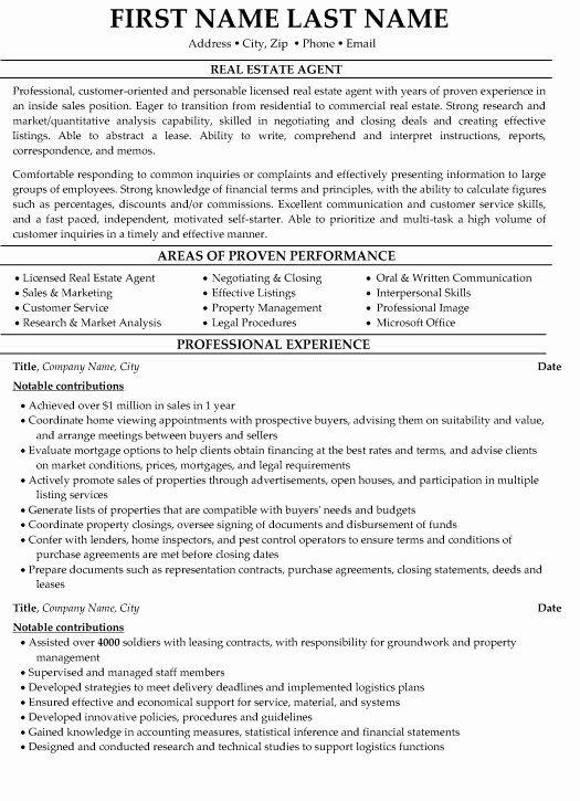 Real Estate Agent Resume Sample For Entry Level Sample Of Restaurant Resume Real Estate Agent Resume Skills