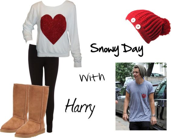 """Snowy Day with harry(:"" by kaylee-kimberlin on Polyvore"