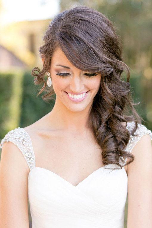 Die schönsten Frisuren für die Hochzeit für jede Braut auf http://www.gofeminin.de/hochzeit/album758440/brautfrisuren-2015-0.html