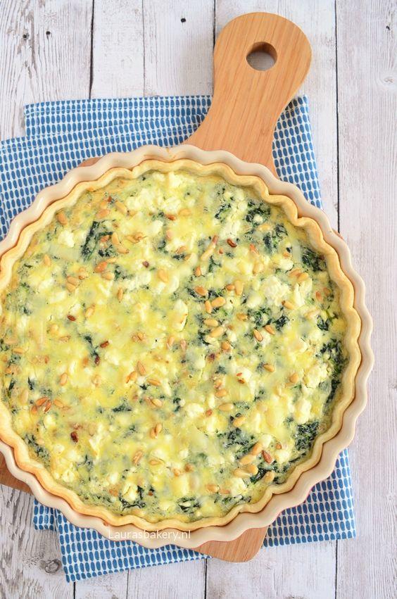 spinach feta quiche - Spinazie feta quiche - Laura's Bakery