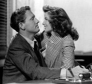 Spencer Tracy and Katherine Hepburn.