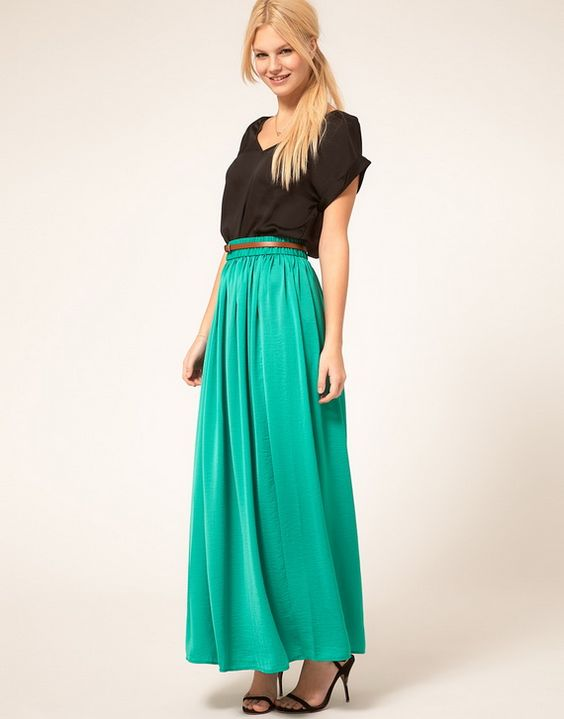maxi skirt for work turquoise maxi skirt worn on the