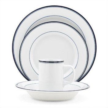 Dansk Concerto Allegro Blue Dinnerware Set Black Navy
