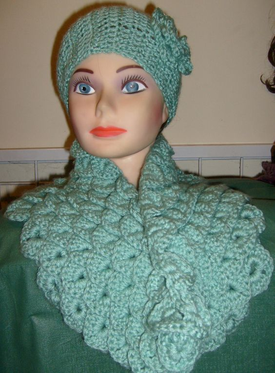 Free Crochet Mermaid Cowl Pattern. Very Easy. I made this for a Christmas gift, I sure hope she like it.