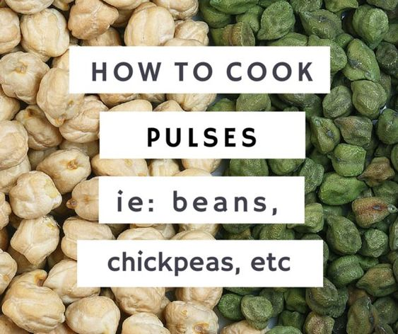 How to cook pulses (beans, chickpeas, etc)