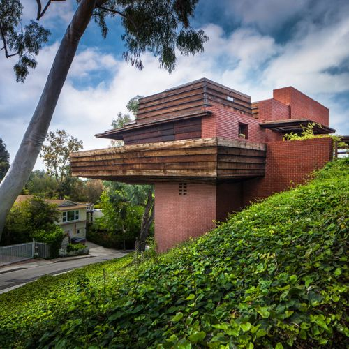 George sturges residence 1939 los angeles california for Frank lloyd wright california