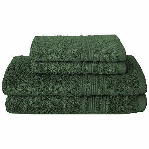 Charisma 100 Hygro Cotton 4 Piece Bath Towel Set Dark Gr Bathroom Bath Towel Sets Towel Bath Towels