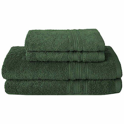 Charisma 100 Hygro Cotton 4 Piece Bath Towel Set Dark Gr