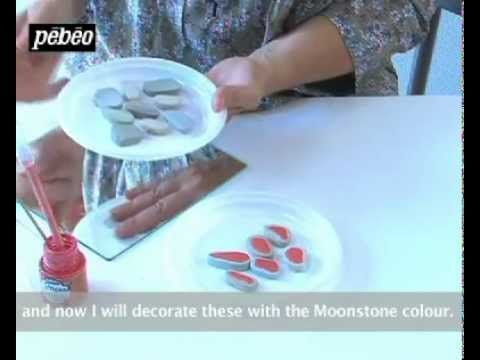 Craft Idea - Video showing Pebeo Fantasy Prisme: How to Embellish a Mirror with Fantasy Prisme Paint and Pebbles.