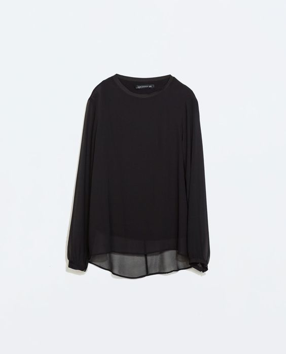 ZARA - WOMAN - LONG-SLEEVED TOP