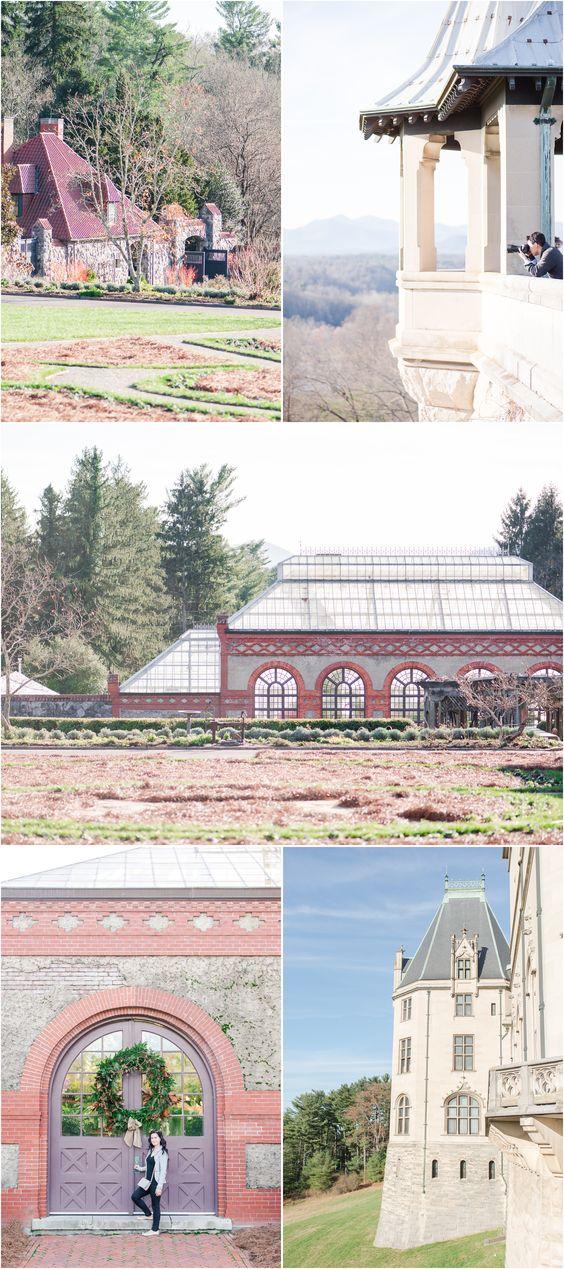 Biltmore Estate grounds, Biltmore Conservatory, Biltmore gardens, Biltmore at Christmas