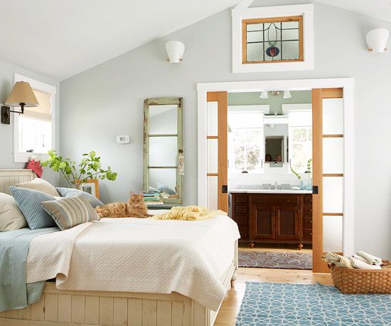 Pocket doors neutral bedrooms and the doors on pinterest for Cool neutral paint colors