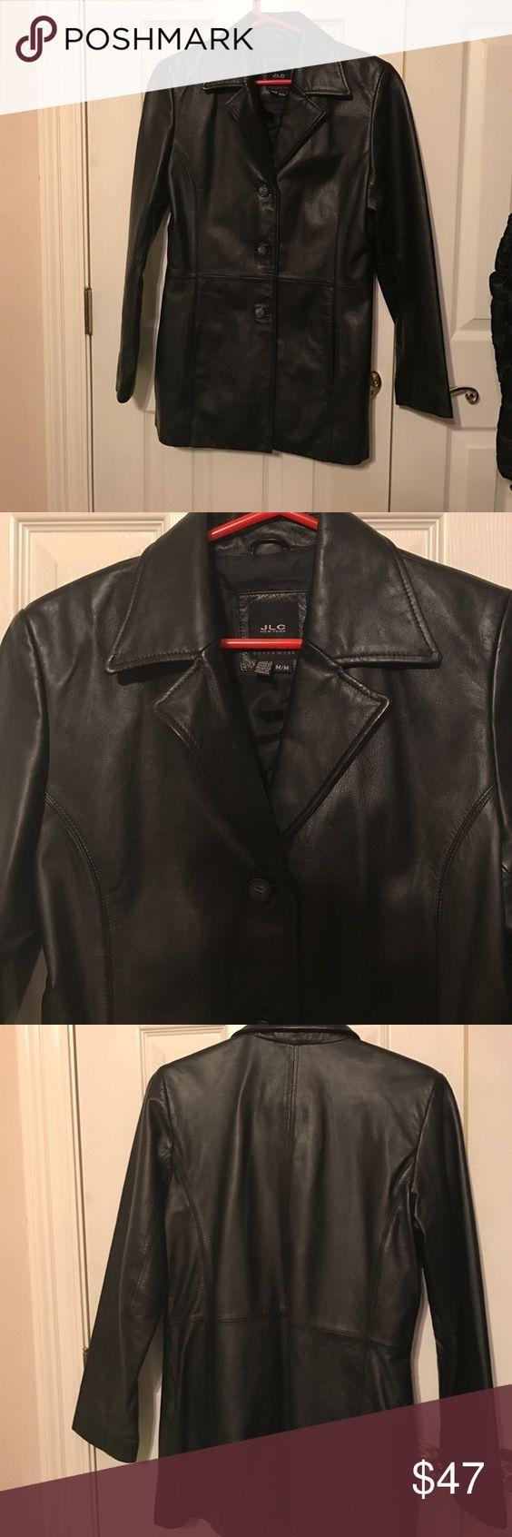 Leather jacket damage - Womans Black Leather Jacket Womans Black Leather Jacket By Jlc Of New York No Damage
