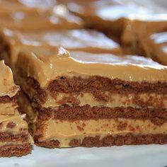 Tarta de galletas y dulce de leche: