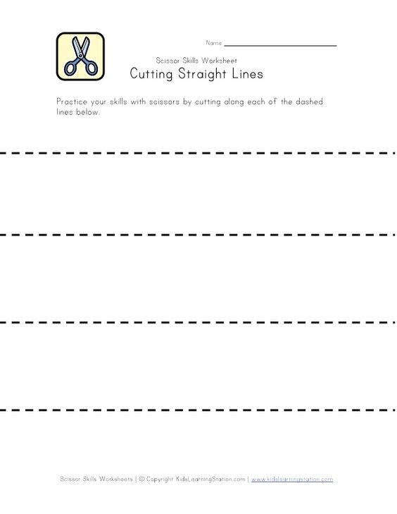 Number Names Worksheets cutting activity for preschoolers Free – Kindergarten Cutting Worksheets