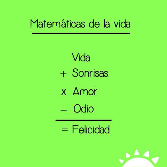 Resultado de imagen de frases matematicas de amor