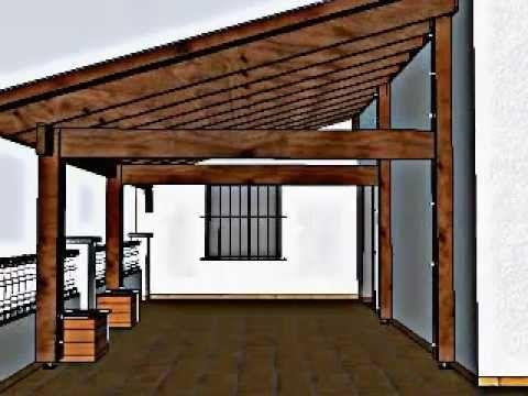 20 Techos de terrazas de madera