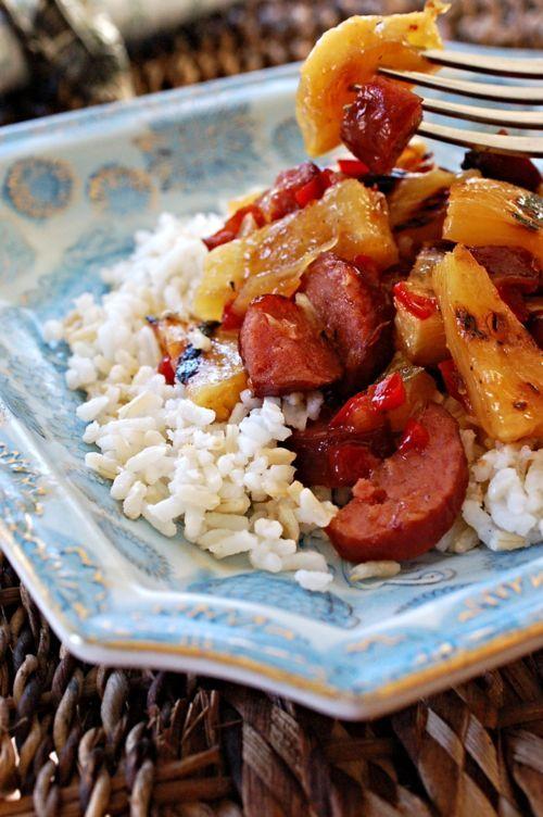 Hawaiian Sweet and Sour Smoked Sausage