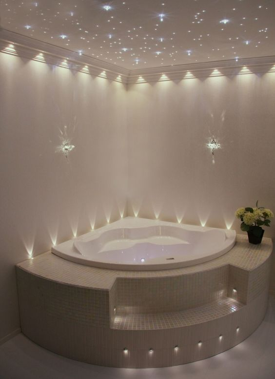 Star lights light bathroom and accent lighting on pinterest for Bathroom ideas jacuzzi