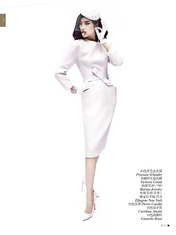 #SuiHe by #MarioTestino for #VogueChina December 2013