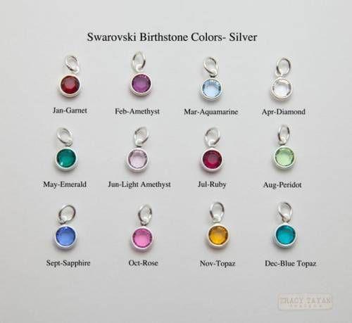 One Sterling Silver Plated Flat Swarovski Crystal Birthstone Charm Birthstone Charms Swarovski Crystal Birthst Birthstone Charms Crystal Charm Charms Swarovski