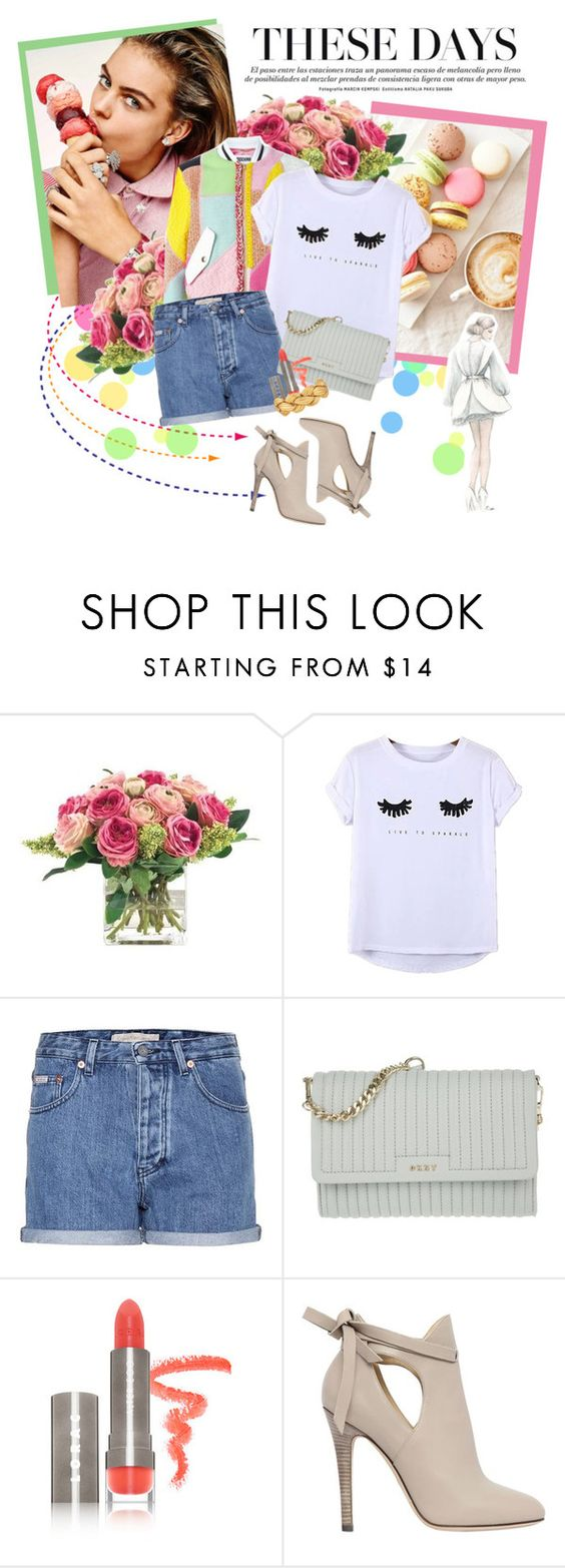 """S W E E T"" by natural-cloe ❤ liked on Polyvore featuring INC International Concepts, Chicnova Fashion, Calvin Klein Jeans, DKNY, LORAC and Jimmy Choo"