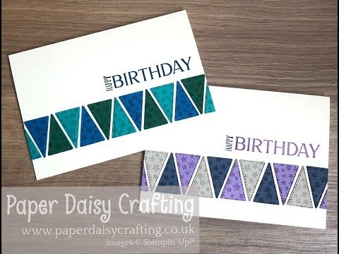 Birthday Card For Men Using Triangle Stitched Dies Tutorial Youtube Birthday Cards For Men Birthday Cards Paper Crafts Cards