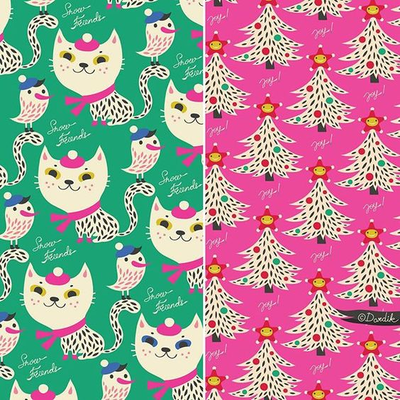 snow friends... recoloured... #pattern #repeat #surfacedesign #holidays  via ✨ @padgram ✨(http://dl.padgram.com)