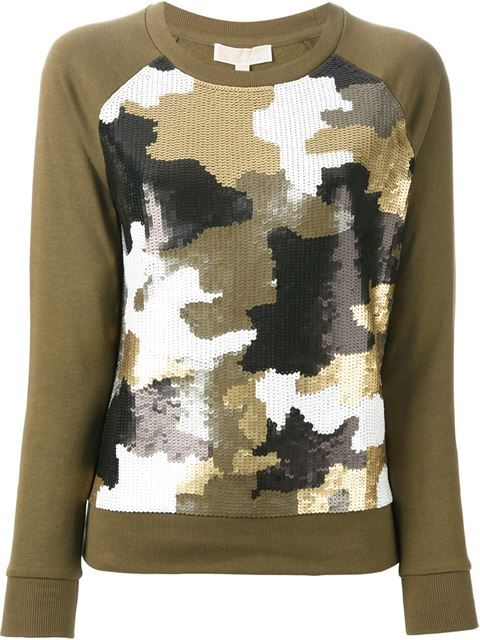 Shop Michael Michael Kors sequinned camouflage pattern top in A.M.R. from the world's best independent boutiques at farfetch.com. Over 1000 designers from 60 boutiques in one website.