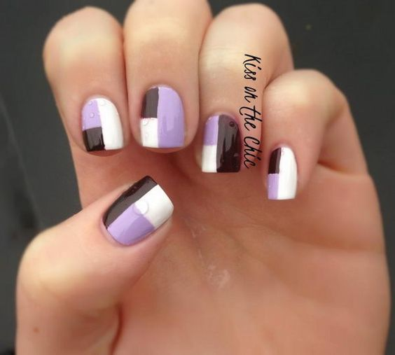 Cool color block nail designs prinsesfo Image collections