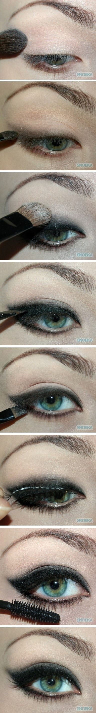 Smoky eye, Mom and Style on Pinterest