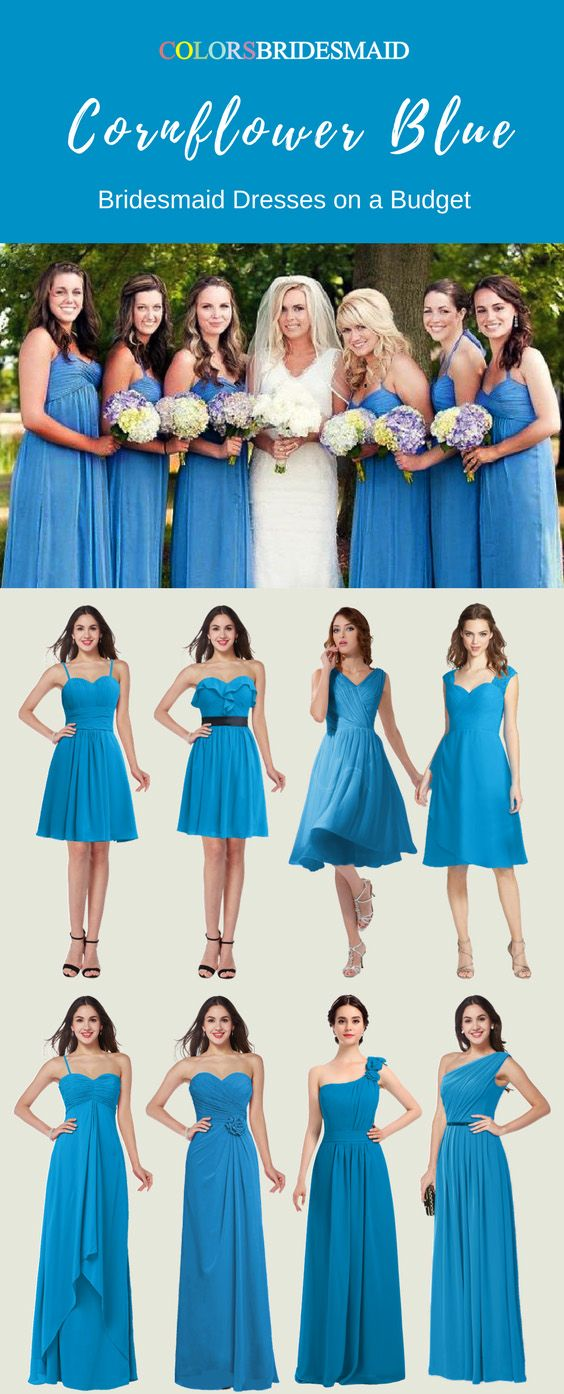 Cornflower Blue Bridesmaid Dresses On A Budget Cornflower Blue Bridesmaid Dresses Blue Bridesmaid Dresses Short Blue Bridesmaid Dresses