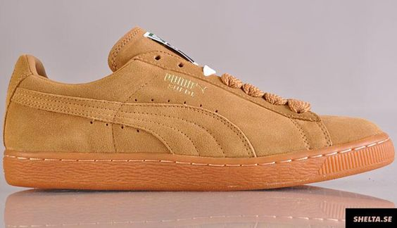 puma brown suede trainers