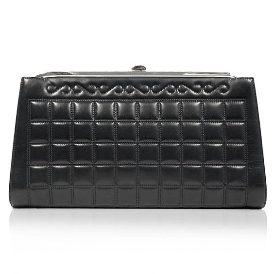 Chanel Black Framed Quilted Clutch http://www.consignofthetimes.com/product_details.asp?galleryid=6860