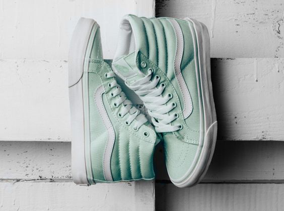 Sneakers femme - Vans SK8 Hi mint