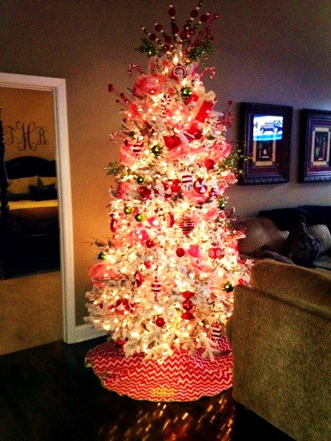 Flocked Candy Tree