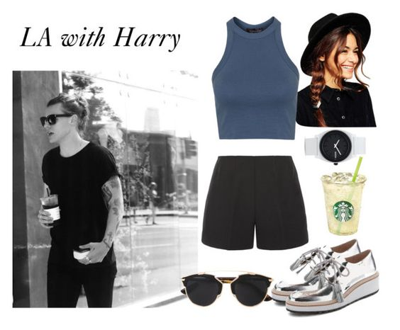 """""""Harry"""" by danish1girl ❤ liked on Polyvore featuring ASOS, TIBI, Topshop, Loeffler Randall, Christian Dior, Nixon, women's clothing, women, female and woman"""